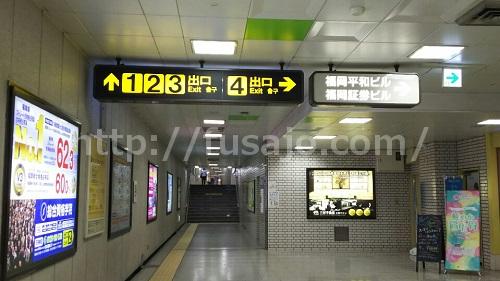地下鉄天神駅の地下通路