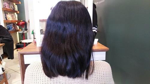 髪を切る前