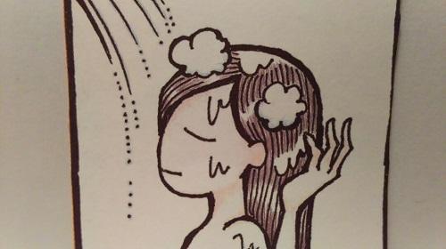 頭皮の洗い流し方