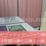 東京ビューティークリニックでの1年間の薄毛治療